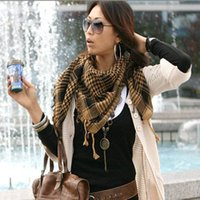 Wholesale 2015 Womens Scarf Fashion Casual Warm Shawl Plaid Infinity Scarf Knitted Scarf Women Winter Scarves Arab Shemagh Keffiyeh Cape
