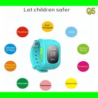 anti lost - 2015 Newest Children Watch Q5 GPS Tracker Watch Anti lost Smarttwatch Kids SOS Emergency with Smartphone App