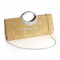 Wholesale Diamante Ring Handle Purse Frill Clutch Evening Shoulder Bag Wedding Party Bag COLORS