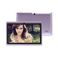 Dhl de la tableta de 8 gb Baratos-DHL nave! iRULU Q88 7 pulgadas Tablet PC Allwinner A33 Quadcore Android 4.4 de doble cámara de 8GB 512MB capacitiva de alta definición de pantalla iRuLu Tablets