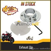 Wholesale Motorcycle Parts Dirt Bikes Exhaust Power Tip Pipe System With Stock Chrome Silver Fit For Honda XR650 XR650R CNC Aluminum Billet