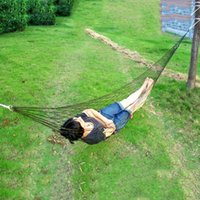 Wholesale Outdoor Travel Camping Hammock Garden Portable Nylon Hang Mesh Net Sleeping Bed New and High Quality
