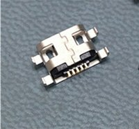 Wholesale Micro USB pin B type Female Connector For Mobile Phone Micro USB Jack Connector pin Charging Socket