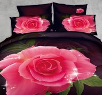 beautiful california - 3D Black and red rose bedding set duvet cover fitted bed sheet cal king queen double size bedspread quilt cotton beautiful bedsheet