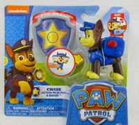 Wholesale Paw Patrol Figures Toys Weapons Can Bounce Off Puppy Patrol Figures Doll Action Anime Dog Education Toys Kids Gifts