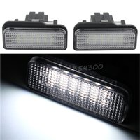 amg license plate - 2x LED SMD License Plate Light White Lamp For Mercedes Benz C CLASS W203 W219 AMG V V Doors order lt no track