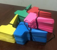 Wholesale Fashion Hot x10cm Plastic Plant T type Tags Markers Nursery Garden Labels Gray