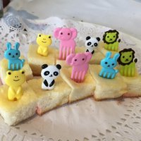 animal cupcake decorations - Food Fruit Picks Forks Kawaii Animals Mini Farm Cartoon Plastic Toothpick Children Lunch Box Bento Cupcake Decoration
