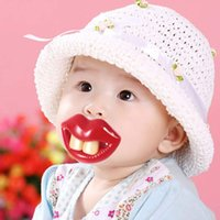 Wholesale 1 x Hot Funny Dummy Dummies Pacifier Novelty Teeth Moustache Baby Chile Soother Nipple