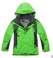 Wholesale 2015 brand kids jackets for Children boys girls clothes outdoor sports ski jacket suit waterproof set fleece ski coat