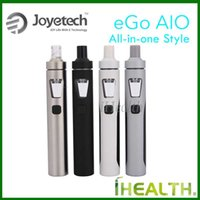 applied white - Joyetech eGo AIO Starter Kit All in one kit with ml Anti leaking Structure Tank mah Battery Applied with Childproof Systems Free DHL