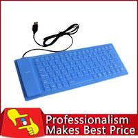 Usb con cable al por mayor del teclado de silicona España-Venta directa de fábrica al por mayor de 86 llaves impermeabilizan USB con cable flexible de silicona suave teclado para PC Portátil