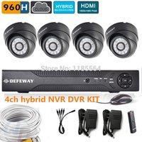 Cheap high resolution 4CH full 960h CCTV Security Camera System hybrid DVR NVR KIT HD 600TVL dome Camera Video Surveillance System
