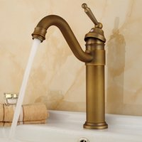basin mixer taps swivel spout - And Retail Promotion Deck Mounted Antique Bronze Bathroom Basin Faucet Swivel Spout Sink Mixer Tap B
