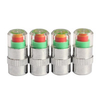 air pressure sensor - 4pcs Bar PSI Tire Pressure Car Tire Monitor Pressure Gauge Cap Sensor Indicator Color Eye Alert Air Pressure Gauge
