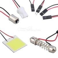 Wholesale 48 LED COB Chip Car Panel Festoon Lamp Interior Room Dome Light V hot