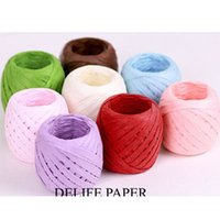 Confectionery - colorful paper Rope meter one roll Bread Biscuit Confectionery Food PaGift Wrap Christmas wedding Decorate birthday Party Favor holder