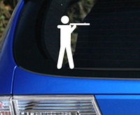 anti gun control sticker - Stick Figure Guy Shooting a Shotgun Decal Sticker Anti Gun Control Hunting Duck funny car stickers