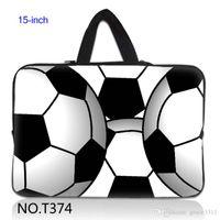 Unisex art laptop sleeve - 15 quot FootBall Arts Laptop SLEEVE Bag Case Hide Handle Fr quot Acer Aspire Dell Inspiron