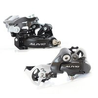 alivio bike - Alivio bicycle Front Derailleur FD M412 Rear Derailleur RD M410 S groupset For shimano Black