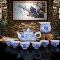 Wholesale Understanding Chinese Ceramic Culture Handmade Ceramic Tea Cups Set Exquisite Handcrafts