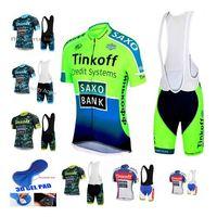 bib culotte - Cycling Jersey Ropa Maillot Culotte Saxo Bank Tinkoff Bike Men Ciclismo Bicycle Wear clothing MTB shirt gel bib shorts sets