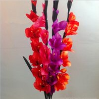 artificial gladiolus - New Arrival Inch Long Branches Artificial Silk Fabric Flower Fresh Gladiolus Color Available For Home Wedding Decorations