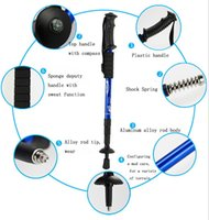 Wholesale 135cm Adjustable Telescopic AntiShock Trekking Hiking Walking Stick Poles Section