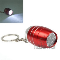 Wholesale Flashlights LED Mini Keychain Flashlight NO Hot Yellow Red Blue Black Silver Colours High Quality