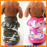 Cheap Pet clothes Dog apparel Camouflage Best Hoodie Sweatshirt teddy clothing poodle