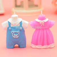 baby boy souvenirs - Rushed Navidad Wedding Favors And Gifts Children s Baby Shower Favor Girl Boy Dress Candle Kid Children Gifts Souvenir