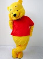 Wholesale custom made mascot lovely cute Winnie the Pooh cartoon mascot costumes For Halloween Carnival Party Christmas Adult size