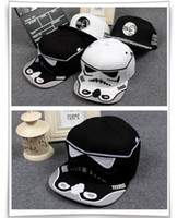 Wholesale 30pcs Star Wars Baseball Cap New Embroidery Men Women Fashion Sun Hats Adjustable Snapback Hip Hop Dance Hat Cap