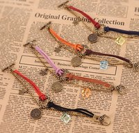 antique vintage jewellery - Infinity Bracelet Horoscope Vintage Weave Bracelets Antique Charm Braided Wrist bands Jewellery Casual Adjustable Wrap Gifts for Women