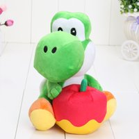0-12 Months apple brothers - Super Mario Brothers Yoshi Green Plush Toy Hug Big Apple Around