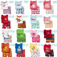 Wholesale Boy girl kids short pajama set baby superman pajamas batman sleepwear kids short clothes set kids short kids pajamas