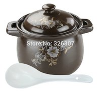 big saucepan - Chinese L KGS Big ceramic sand pot cookware stock porridge earthen pot saucepan marmite stew soup tureen casserole