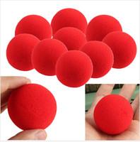 balls tricks - high quality New Fashion Close Up Magic Sponge Ball Brand Street Classical Comedy Trick Soft Red Sponge Ball
