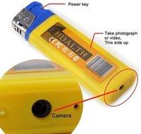 Wholesale 60 Yellow blue Mini DV lighter Camera mini video camera Lighter Spy Cameras portable Video And Photo Recording mini lighter camera
