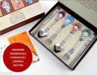 beijing steel - Chinese Fashion Stainless Steel Beijing Opera Chopsticks amp Fork amp Spoon Gift Set