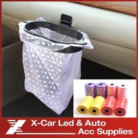 Wholesale 2 Roll Multi Color Rubbish Bags Trash Bags Garbage Bags Eco friendly Roll For Car And Home Auto Supplies