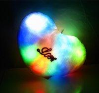 Wholesale Glow Night bright soft plush pillow Fancy LED Pillow led glowing pillow