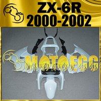 venda por atacado 2001 kawasaki zx6r fairings-Em armazém Motoegg Unpainted (Unpolished) carenagens Injection Mold Para Kawasaki ZX-6R ZX6R ZX 6R 2000 2001 2002 00-02 carenagens Carroçaria K60M00