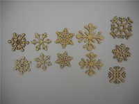 craft embellishments - Mixed Snowflake Patterns Wood Shapes XHWS023 Indoor Ornaments Christmas Tree Decorations Scrapbooking Embellishments DIY Craft
