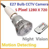 Wholesale E27 Bulb CCTV Security DVR Camera Motion Dection Night Vision Home Security DVR Camera Digital Video Recorder