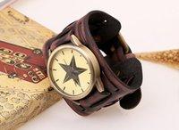 bangle cuff watch - Vine genuine leather bracelet watch hyperbole punk men teens quartz wristwatches wristband cuff bangle party festive gift black brown