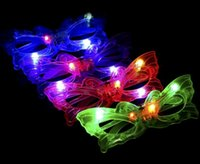 Wholesale Kids Butterfly Earrings - 1000PCS HHA372 Butterfly LED Flashing Glasses Light Up Rave Toys For Halloween Masquerade Mask Dress Up Christmas Party Supplies