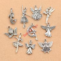 fairy charms - Mixed Tibetan Silver Plated Girl Angel Fairy Cupid Charms Pendants Jewelry Making Diy Charm Crafts Handmade m024
