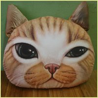 Wholesale 2015 new Nordic Chair Pillow Personality Car Cushion Cover Creative Handsome Cat shape Nap pillow Cover Cute seat cushion JIA263