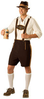 beer hats - Adult Mens Oktoberfest Bavarian Beer Guy German Fancy Dress Festival Costume Lederhosen With Hat Plus Size M L XL XXL
